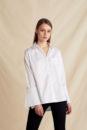 Anna big cuff shirt (white)