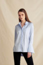 Anna big cuff shirt (blue)