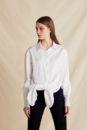 Caroline knot shirt (white)